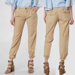 FREE PEOPLE Utility Boyfriend Cropped Pant Size 26
